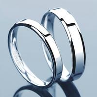 farcoko 法蔻 輕奢品牌 925銀鍍白金情侶戒指 *3件