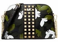 Michael Kors 邁克高仕 大號拉鏈圓頂皮革斜挎包錢包手提包