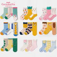 caramella 寶寶棉質中筒襪 3雙
