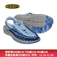 KEEN UNEEK 男女士新款潮流涼鞋時尚戶外防滑溯溪鞋涉水鞋耐磨沙灘鞋 女藍色1020791 39