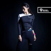 MSGD緊身衣 女子運動健身訓練網紗長袖上衣   修身收腰美背速干訓練服 *2件