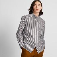 男装 优质长绒棉条纹衬衫(长袖) 421177