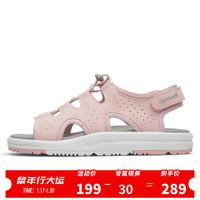 Sprandi斯潘迪女鞋 夏季輕便運動涼鞋魔術貼拖鞋女士休閑鞋 淺粉色 36