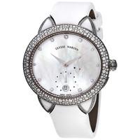 银联爆品日:ULYSSE NARDIN Jade 18kt 白金自动镶钻女士腕表
