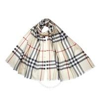 银联爆品日: BURBERRY 博柏利 8015407 羊毛真丝混纺围巾