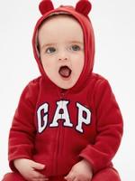 Gap 蓋璞 嬰兒 可愛熊耳一體式連帽連體衣