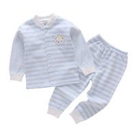 葆適得嬰兒內衣套裝0-1歲男女寶寶純棉衣服春秋長袖睡衣分體兩件套