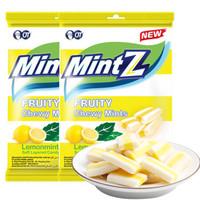 印尼進口 MintZ 明茨 清涼水果味糖果 休閑零食 清新口氣 檸檬薄荷味軟糖 115g*2包 *10件