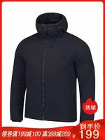 李寧男士棉服短款運動保暖防風透濕外套保暖連帽輕薄棉衣