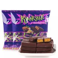KDV 俄羅斯進口紫皮糖巧克力夾心牛軋 500g