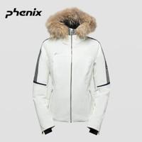 19春季新品phenix菲尼克斯女子防風防水沖鋒衣滑雪服保暖外套 米白色 S