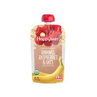 禧貝嬰幼兒有機香蕉覆盆子燕麥蔬果泥 二段 113g/袋裝 6個月以上