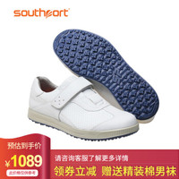 Southport 秀仕寶高爾夫球鞋英國防水頭層皮商務休閑皮鞋男式高爾夫球鞋運動鞋男士 SX0960 白色 42碼