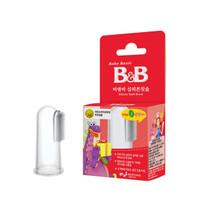 B&B 保寧 新生兒硅膠指套牙刷0-24個月 *3件