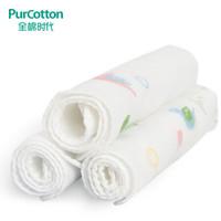 全棉時代 手帕嬰兒紗布口水巾 寶寶新生兒小手帕 32*32cm 3條/袋 *10件