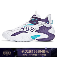 361度男鞋2019冬季新款籃球鞋減震運動鞋N 361度白/靈性紫 42