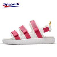 Sprandi斯潘迪運動涼鞋女 新品芭比聯名魔術貼涼鞋防滑運動拖鞋 7能量芯白/芭比粉 37.5