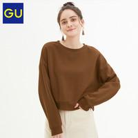 GU極優女裝短款套頭衛衣時尚圓領套頭衫多色上衣女秋319718