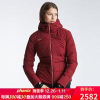 phenix菲尼克斯滑雪服女秋冬新品防水保暖滑雪外套修身ES982OT54 酒紅BO S