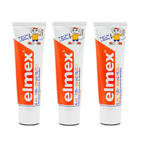 Elmex 易學 兒童乳牙專用牙膏 50ml *3支