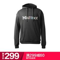 土撥鼠(Marmot)戶外運動日用休閑男士帶帽衛衣曜石黑 XL *3件