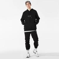 New Balance NB官方2019新款男士針織衛衣AMT93511連帽加絨衛衣 BK AMT93511 L