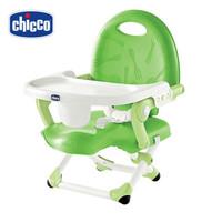 Chicco智高宝宝餐椅家用可折叠便携式多功能餐桌婴儿童吃饭座椅子 绿色