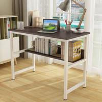 帅力 电脑桌 钢木带书架笔记本书桌简约台式学习办公桌子 黑胡桃色SL17042D