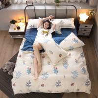 植物羊絨棉磨毛四件套被套床單 1.8米床