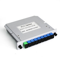 湯湖 1比8分光器插片式1分8光分路器分纖箱插卡式2/4/16/32電信級