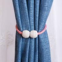 免打孔磁性綁帶窗簾扣綁繩裝飾系帶一對