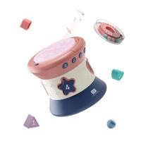 babycare寶寶手拍鼓嬰兒玩具6-12個月益智拍拍鼓0-1歲兒童音樂鼓