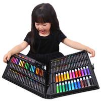 畫筆套裝蠟筆水彩筆禮盒 228件套黑盒裝繪畫套盒 *2件