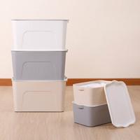 塑料收纳箱带盖日式素雅简约风格 (到手价10.9)