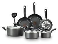 T-fal特福 A821SA不粘鍋10件套 可用于洗碗機 深灰色