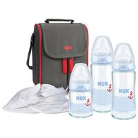 NUK 寬口玻璃奶瓶+媽咪包 8件套裝 *2件