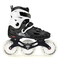 飛鷹F110大三輪輪滑鞋成人休閑刷街速滑訓練專業速樁溜冰鞋男女旱冰鞋 白色定制款閃光輪 43