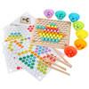兒童專注力訓練夾豆子珠男女孩早教思維智力寶寶桌面游戲益智玩具
