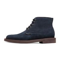 ThomWills 男士反絨馬丁靴短靴 深藍