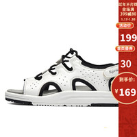 Sprandi斯潘迪女鞋 夏季輕便運動涼鞋魔術貼拖鞋女士休閑鞋 白色/黑色 35.5 *2件