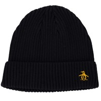 Original Penguin Basic Ribbed Logo Beanie 男士针织帽