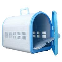 愛麗思 寵物貓狗便攜寵物箱 淺藍色 M