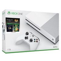 Microsoft 微软 Xbox One S 1TB 家用游戏机 光环:士官长合集+雷曼传奇 套装