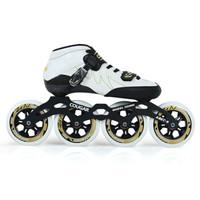 美洲獅 速滑鞋成人專業溜冰鞋成年輪滑男女直排大輪 白色 41