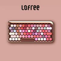 LOFREE/洛斐 玫瑰金綻放 手機電腦無線藍牙機械茶軸口紅眼影鍵盤女生專屬