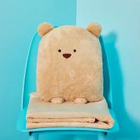 福超 卡通小動物抱枕 毯子
