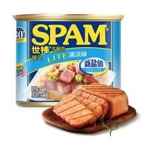 世棒(SPAM)午餐肉罐頭清淡口味340g 開罐即食 早餐三明治漢堡披薩火鍋燒烤麻辣香鍋泡面火雞面搭配食材 *15件