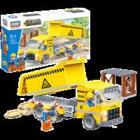 古迪(gudi)積木拼裝小顆粒兒童工程車大童男孩挖掘機6-10歲以上玩具 9501自卸車 *3件