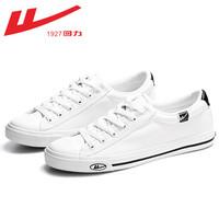 回力 WBX31T 冬季加絨帆布鞋低幫 白色