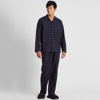 UNIQLO 優衣庫 419899 男裝 法蘭絨睡衣(長袖)